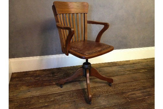 Attractive vintage oak swivel office desk chair with hand dyed tan leather  padded seatAntique Oak Desk - Oak Office Chairs Uk. Antique Light Oak Swivel Desk Chair Office